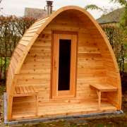 porch knotty wood upgrade for dundalk pod sauna