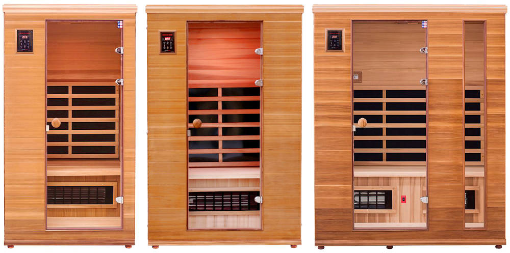 Renew 1, 2 and 3 infrared saunas side-by-side comparison