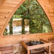 signature pod shaped back wall window