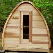 solid wood upgrade for dundalk pod sauna