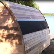triple layer roof upgrade for dundalk pod sauna