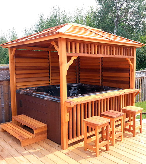 Dundalk Outdoor Echoe Gazebo, Red Cedar
