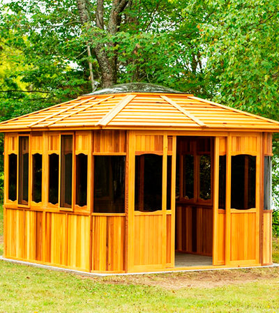 Dundalk Outdoor Islander Gazebo, Red Cedar