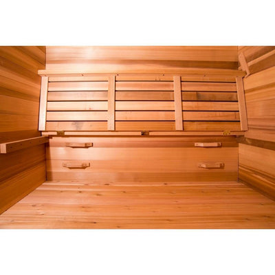 Hot Yoga Sauna with foldable bench and 4 training wall handles