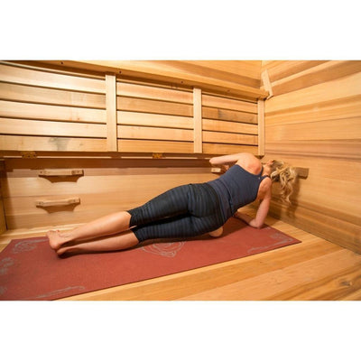 Muscle recovery in hot yoga training sauna