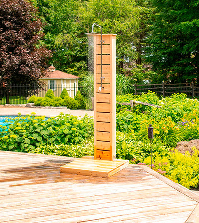Sierra Pillar Outdoor Shower, White Cedar
