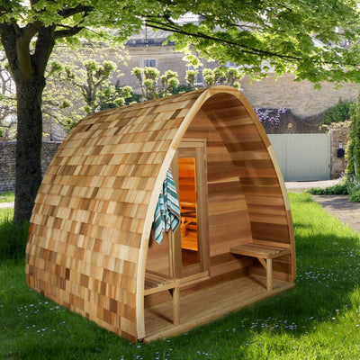 Dundalk Outdoor Pod Sauna, up to 8 people, fully customizable