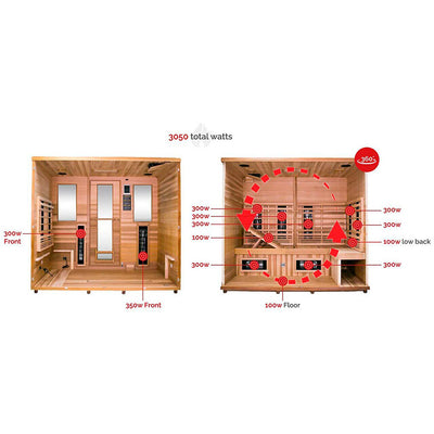 Restore Therapy Lounge Infrared Sauna for up to 4 persons