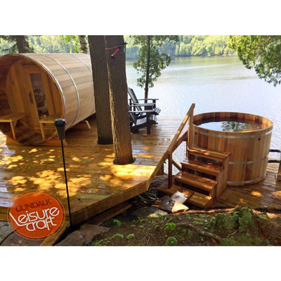 Dundalk Outdoor Barrel Sauna, up to 8 people, fully customizable