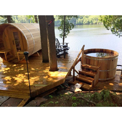 Dundalk Wooden Hot Tub Red Cedar, for 4-8 people, all natural