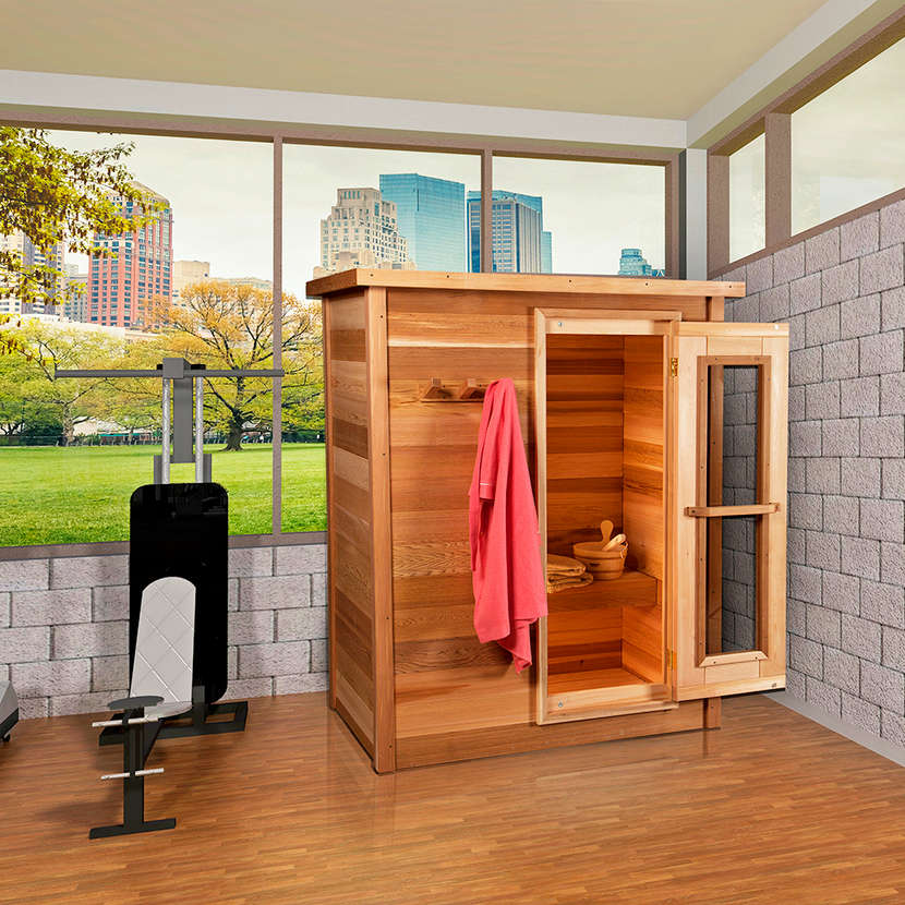 Dundalk Indoor Cabin Sauna for up to 6 people, fully customizable