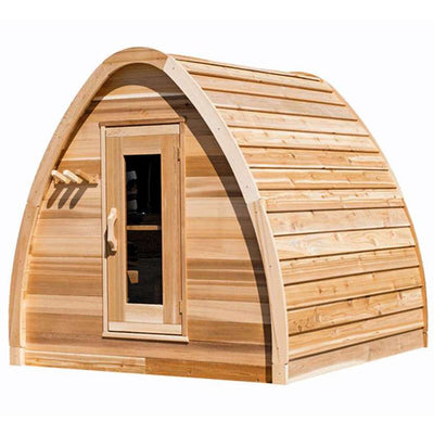 Dundalk Outdoor Mini Pod Sauna, up to 4 people, Clear / Knotty
