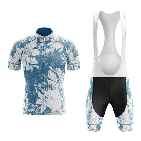 Floral Blue Lily Cycling Jersey Set