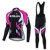 Strava Cycling Jersey Long Set (With Fleece Option)