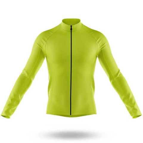 Plain Green Long Sleeved Cycling Jersey (with Fleece Option)