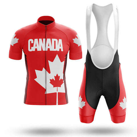 Canadian Maple Leaf Cycling Jersey Set