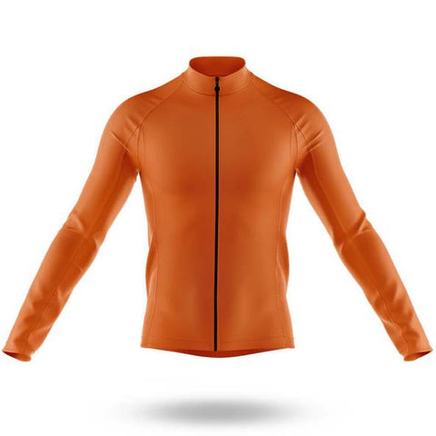 Plain Orange Long Sleeved Cycling Jersey (with Fleece Option)