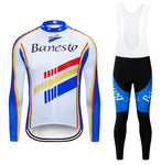 Banesto Retro Cycling Jersey Long Set (With Fleece Option)