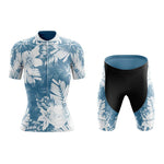 Women's Floral Blue Lily Cycling Jersey Set