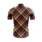 Tartan Rouge Yellow Cycling Jersey Set