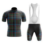 Tartan Black Blue Green Cycling Jersey Set