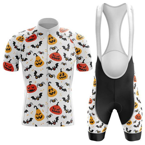 Pumpkins Bats and Spiders Halloween Cycling Jersey Set