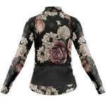 Women's Long Sleeve Floral Vintage Jersey (with Fleece Option)