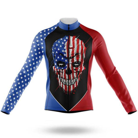 American Skull Long Sleeved Cycling Jersey (with Fleece Option)