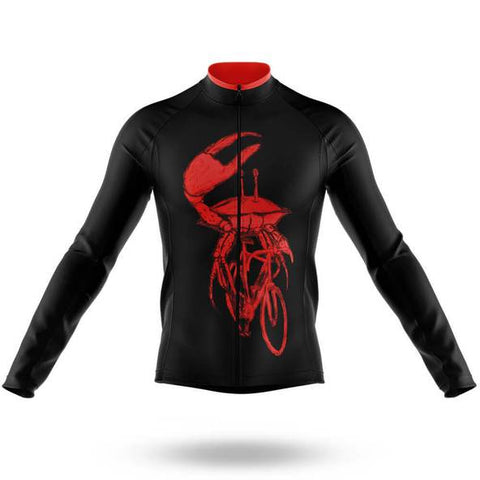 Crab on a Bike Long Sleeved Cycling Jersey (with Fleece Option)