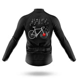 Vinyl Bike Long Sleeved Cycling Jersey (with Fleece Option)