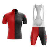 Red Split Cycling Jersey Set