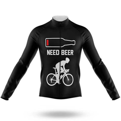 Need Beer Long Sleeved Cycling Jersey (with Fleece Option)