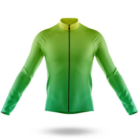 Plain Bright Green Long Sleeved Cycling Jersey (with Fleece Option)