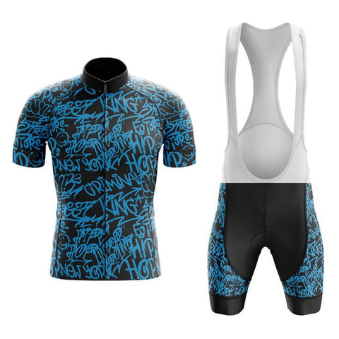Jazzy Blue Retro Cycling Jersey Set