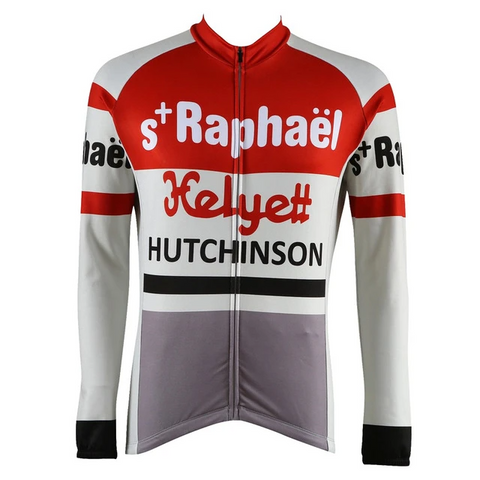 St Raphael-Helyett-Hutchinson Retro Cycling Jersey (with Fleece Option)