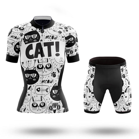 Women's Cat Lady Cycling Jersey Sets