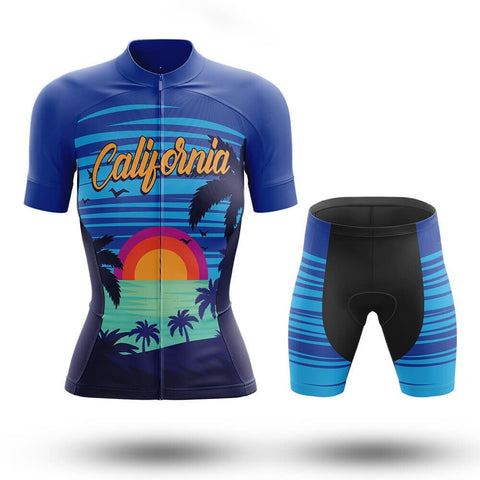 Women's Californian Sunset Cycling Jersey Set