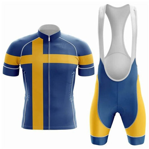 Sweden Pro Team Cycling Jersey Sets