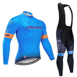 Astana Pro Team Cycling Jersey Long Set (With Fleece Option)