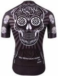 Black & Yellow Skull Cycling Jersey