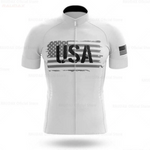 USA White Cycling Team Jersey