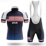 USA Flag Cycling Team Jersey Set