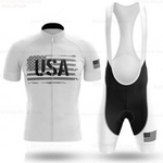 USA White Cycling Team Jersey Set