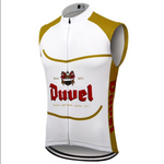 Duvel Beer White Retro Cycling Vest
