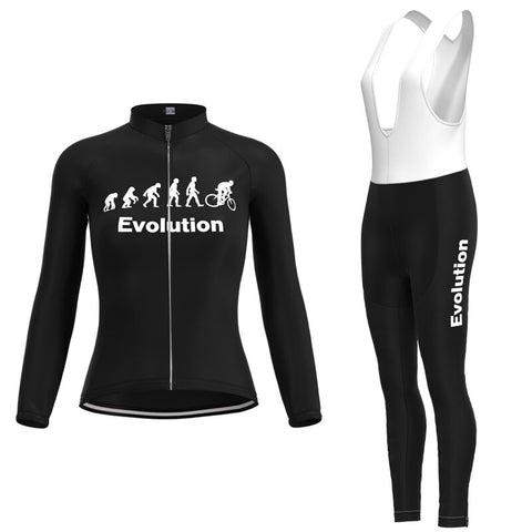 Women's Evolution Cycling Jersey Long Set (with Winter Fleece)