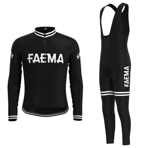 Faema 1955 Retro Cycling Jersey Long Set (With Fleece Option)