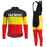 Faemino Retro Cycling Jersey Long Set (With Fleece Option)