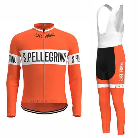 San Pellegrino Retro Cycling Jersey Long Set (With Fleece Option)