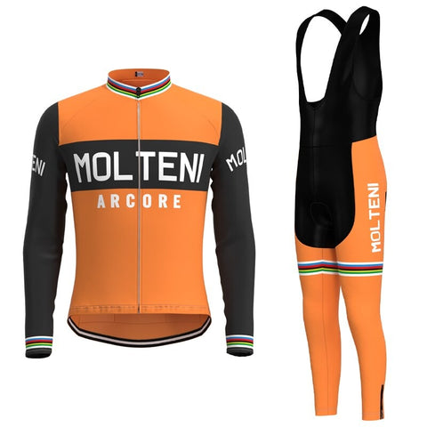 Molteni Retro Cycling Jersey Long Set (with Fleece Option)