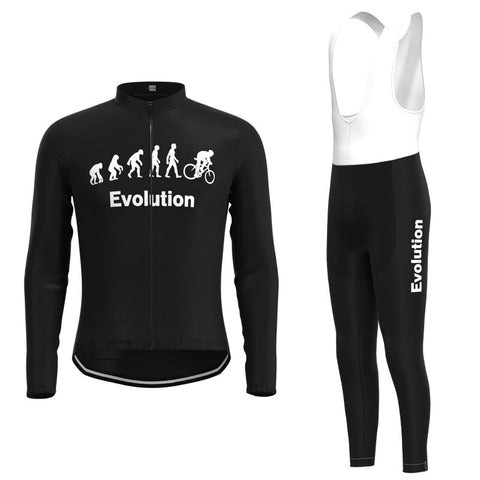 Evolution Retro Cycling Jersey Long Set (With Fleece Option)